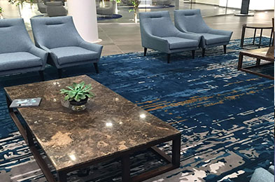 Corporate reception rug